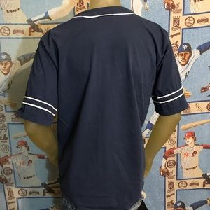Vintage Shirts - Vintage Boston Red Sox MLB Jersey Style Shirt